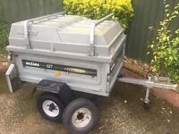 Daxara tipping trailer + hardtop/roofbars/spare wheel