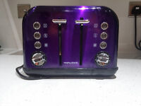 Used morphy richards toaster £12. RRP 30
