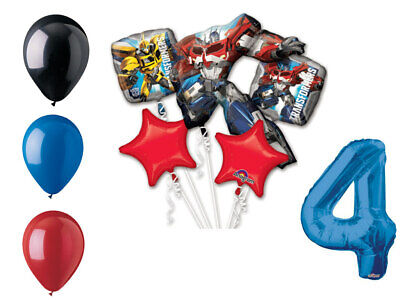 Transformers Balloon Bouquet 4th Birthday Party Supplies Decorations - Transformer Birthday Party Supplies