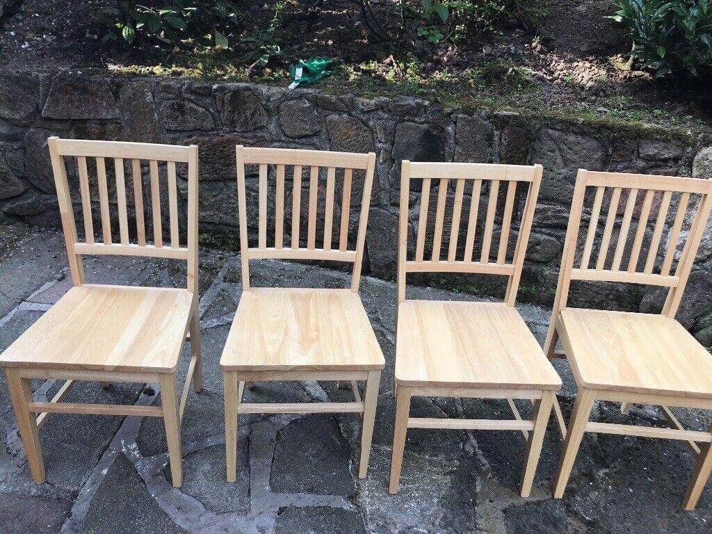 4 Wooden Kitchen Chairs In Milngavie Glasgow Gumtree
