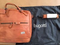BUGATTI LEATHER HAND BAG IN COGNAC (1088)