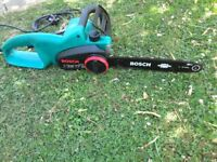 Bosch Electric 35 cm Chainsaw. Good working order and Cuts really well.