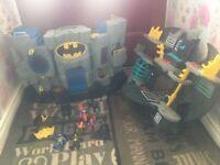Imaginex batman bat tower+ batcave + figures+ vechiles £30 no offers