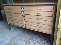 A0 Plan Chest, Beech Effect, Used but Good condition. £250 ONO (new RRP £450)