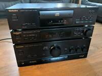 Technics Stereo HiFi Separates Stack System - Amplifier, Tuner CD - VGC