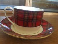 Royal Crown Duchy vintage tartan cups and saucers