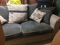 3 seater sofa and snuggle swivel chair.