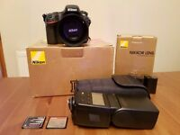 Nikon D800 DSLR with 50mm 1.8 lens and external flash very low shutter count 7830