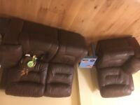 Good condition dfs leather sofas, cheap price for quick sale!