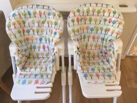 Joie Mimzy XL highchair x2 (like new)