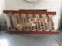 2 x stunning original vintage fairground sign, shop fitting, bar or interior design