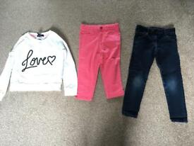 Girls 6 to 7 years Bundle of Clothes Jeans Jumper
