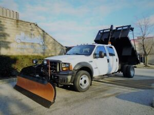2007 Ford F-450 Crew Cab, Dump box,power tarp,Diesel.