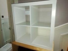 IKEA Kallax Expedit Bookcase 4 shelves, High Gloss White