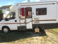2 birth Peugeot Autocruise motorhome 12 months MOT in very good order with 12v240v for tv H+C water