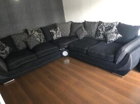 DFS corner sofa with swivel chair and foot stall