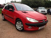 2002 PEUGEOT 206 1.4 AUTOMATIC ONLY 75,000 MILES! MOT AUGUST 2017!!