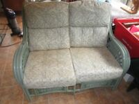 Rattan decorative style 2 seater settee/sofa conservatory chair