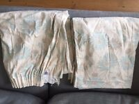 Beautiful Laura Ashley Ready Made Lined Curtains in 'Kimono' Duck Egg design - excellent condition