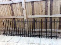 Vertical bar railing, black powder coated, 1 x 2.7m length