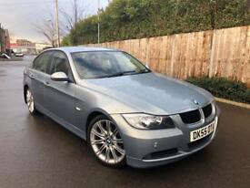 2006 BMW 3 SERIES 320D SE MANUAL E90 4 DOOR SALOON LIGHT BLUE TOWBAR M SPORT ALLOY WHEELS LONG MOT