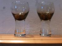 Caithness Wine Glasses 'Canisbay' Smokey Retro 1970's