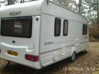 2001 Bailey pageant auvergne 5 berth caravan with motor mover, full awning and fully equiped.