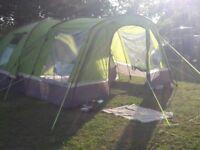 6 berth tent , equipment and gazeebo