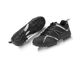 RALEIGH XLC ROAD TOURING CYCLE BIKE SHOES BLACK FLAT OR CLEATS SIZE 46 UK 11