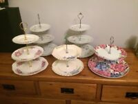 3 Tier and 2 tier cake stands
