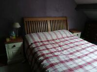King size oak bed frame VGC