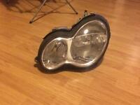 Mercedes c class head lamp passanger side