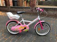 """Girls bicycle B'TWIN 16"""" LILOO PRINCESS"""