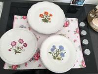 Set of 3 plates brand new Zara Home + two ikea glasses