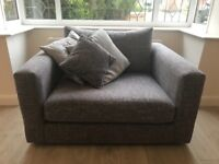 Sofa workshop sofa and snuggle chair - as new
