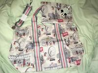 Cath Kidston Mickey in London Foldaway Bag - Limited Edition