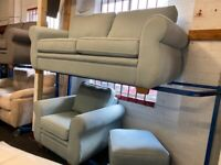 NEW - EX DISPLAY JOHN LEWIS CHESHIRE 3 + 1 SEATER SOFAS / SOFA + FOOTSTOOL 70% Off RRP SALE
