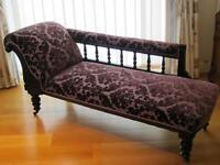 Professionally Restored Beautiful Chaise Longue