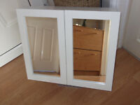 double mirror door bathroom cabinet