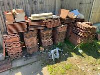 FREE Used Red Roof And Ridge Tiles - FREE TO COLLECT