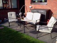 4 PIECE GARDEN FURNITURE SET BRAND NEW BEEN STORED IN DRY SHED.