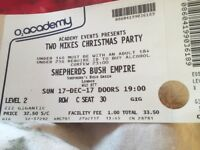Two mikes Christmas party. 3 tickets