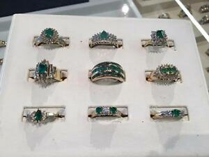 ~~ BEAUTIFUL EMERALD RINGS! ~~