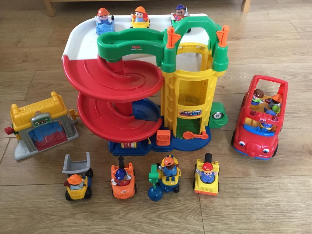 Little People Garage : Little people wheelies garage from fisher price youtube
