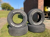 FOUR GOODYEAR EAGLE GT TYRES