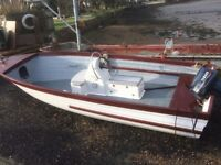 17ft fishing boat with outboard and trailer