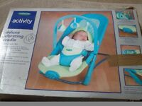 Mothercare Activity Delux vibrating bouncer, excellent condition, boxed as new