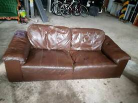 Free leather 2 seater sofa in Hackney