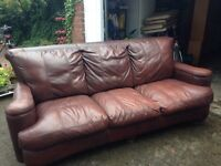 Brown Leather Sofa for sale.