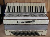 Crucianelli III, 3 Voice, 120 Bass, Piano Accordion.